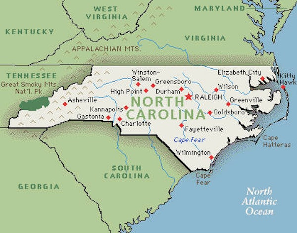 Fox News Fails Geography Uses False Map Of North Carolina New - Map of northern north carolina