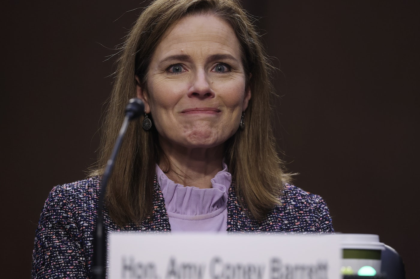 Amy Coney Barrett at the Supreme Court hearings this week