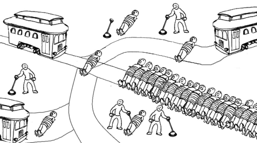 trolley problem Richard baron tracks what trolley problems can tell us about ethics.