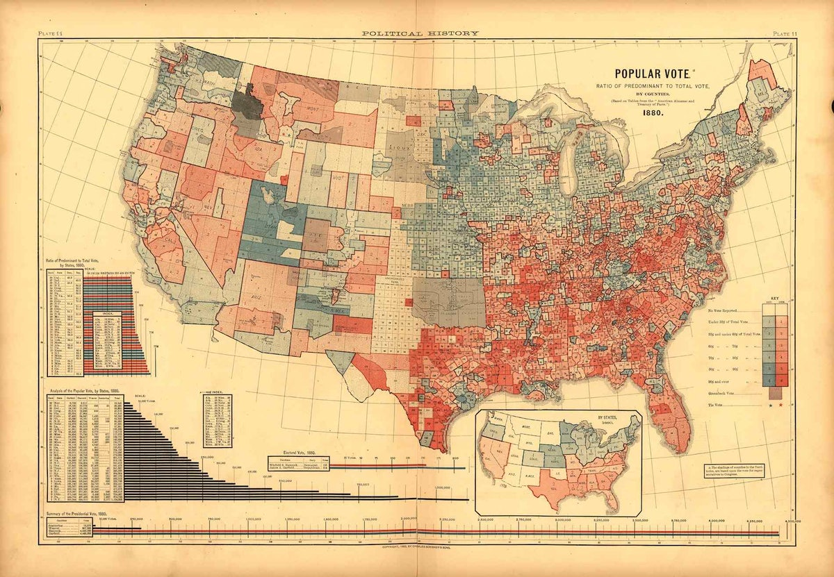 The 19th Century Map That Shows the U.S.\'s Politicial ...