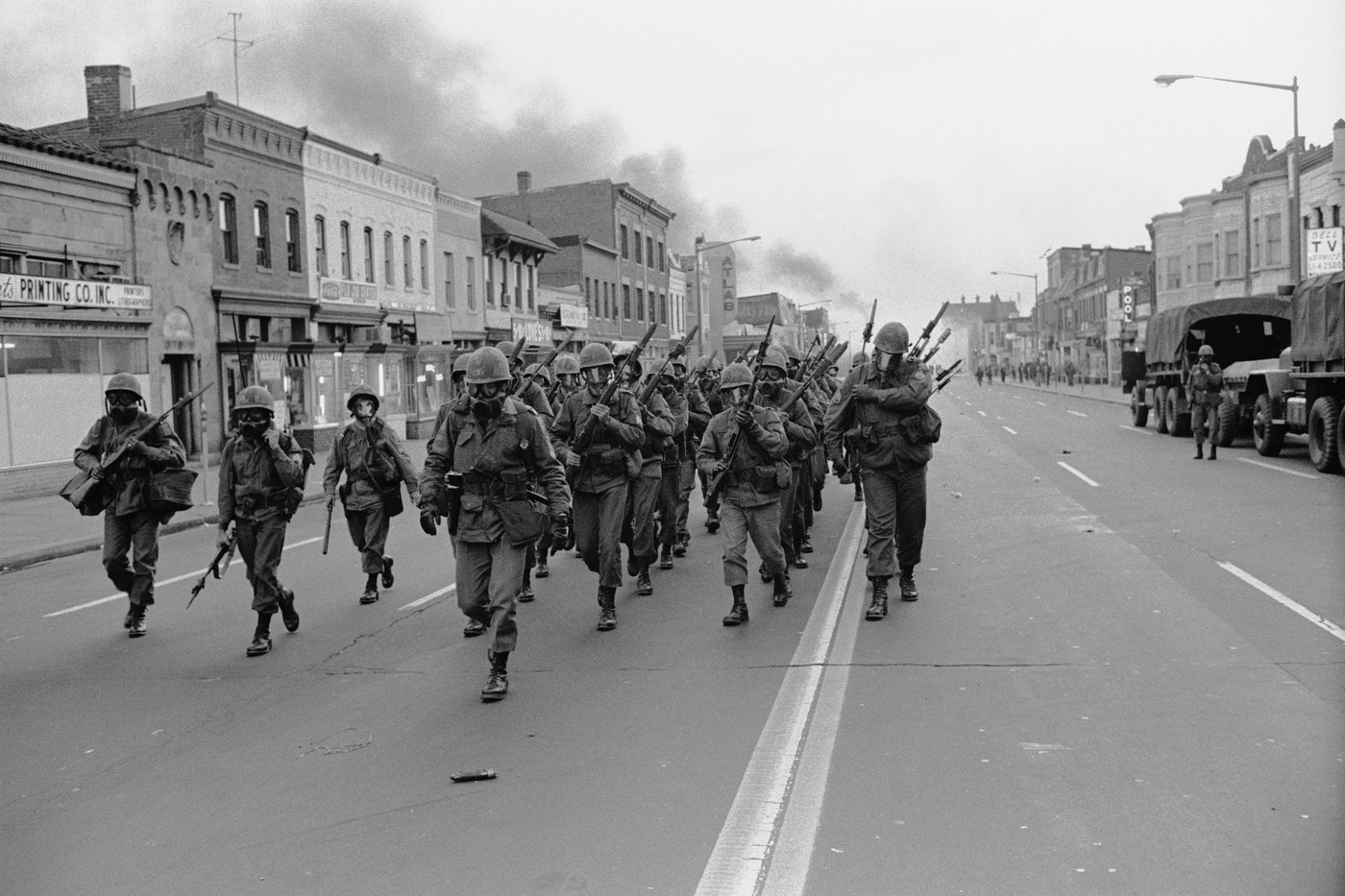 The Army was called out to deal with riots in Washington, D.C., following Martin Luther King's assassination in April 1968.