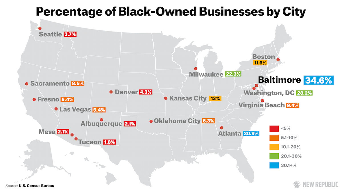 8298703031d Baltimore Leads Comparable Cities in Black-Owned Businesses | The ...