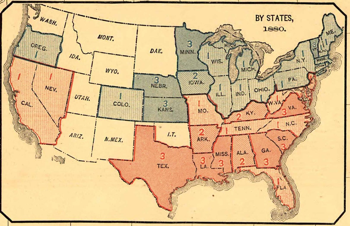 The 19th Century Map That Shows the U.S.\'s Politicial Polarization ...