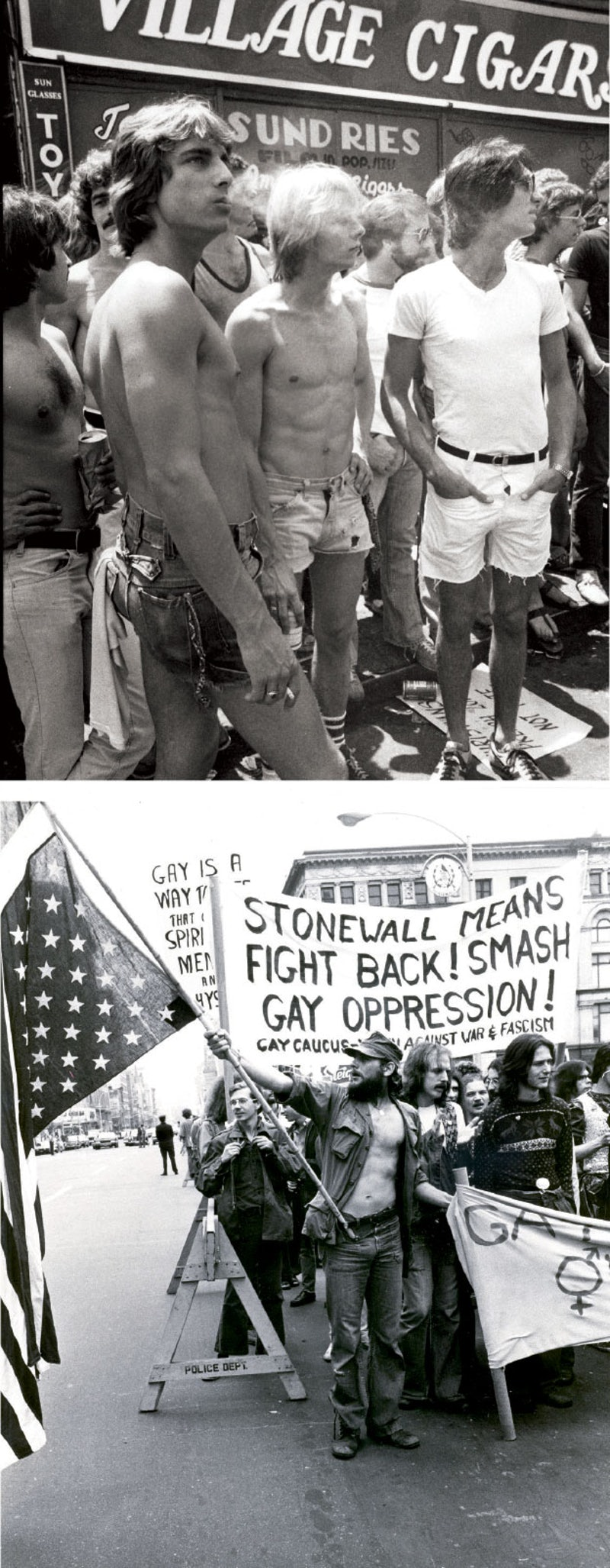 Gay Pride marches in New York City in the 1970s. Leonard Fink, Courtesy of  LGBT Community Center National History Archive